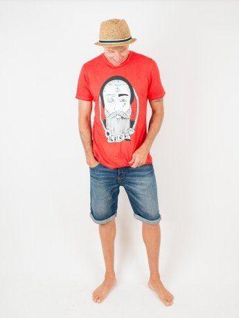 camiseta unisex roja amor odio