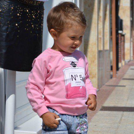 Sudadera rosa baby