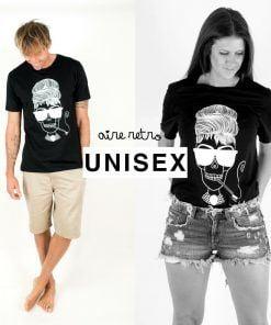 camiseta negra audrey unisex